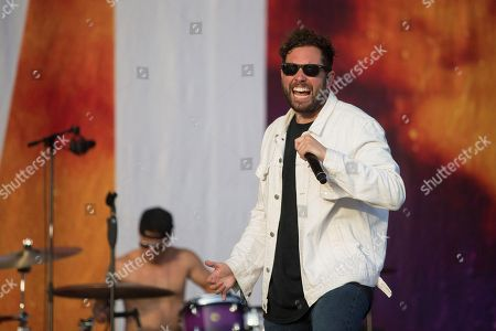 Josh Franceschi of the British band You Me at Six performs during the Benicassim International Festival (FIB), in Benicassim, Spain, 20 July 2019.