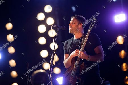 Caleb Followill of US band Kings of Leon performs during the Benicassim International Festival (FIB), in Benicassim, Spain, 20 July 2019.