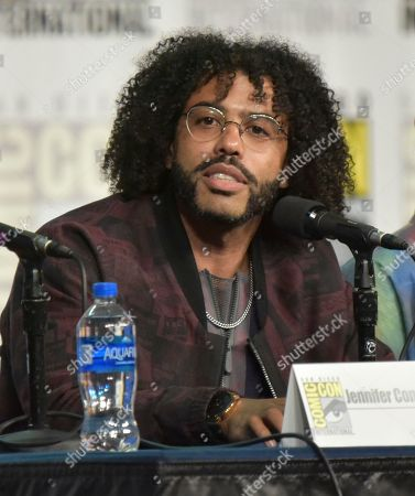 """Daveed Diggs speaks at the """"Snowpiercer"""" panel on day three of Comic-Con International, in San Diego"""