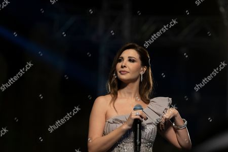 Nancy Ajram performs during the 2019 Jerash Festival of Culture and Arts at the Jerash archeological site, Jerash, some 46 km North of Amman, Jordan, 20 July 2019. The Jerash festival takes part from 18 to 27 July 2019.