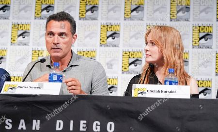 Stock Picture of Rufus Sewell and Chelah Horsdal