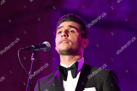 Palestinian singer Mohammed Assaf perfroms on stage during the annual Baalbeck International Festival (BIF) in Baalbeck, Beqaa Valley, Lebanon, 20 July 2019. The festival runs from 05 July to 03 August 2019.