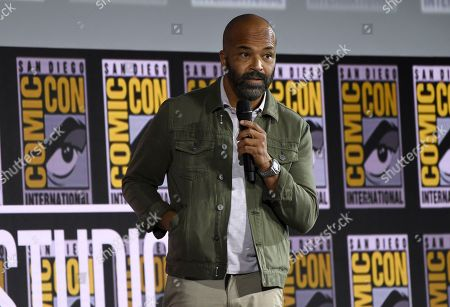 Jeffrey Wright speaks at the Marvel Studios panel on day three of Comic-Con International, in San Diego