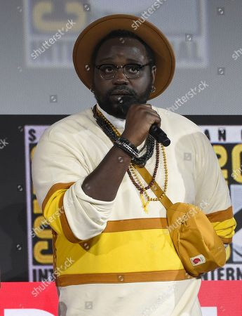 Brian Tyree Henry speaks at the Marvel Studios panel on day three of Comic-Con International, in San Diego