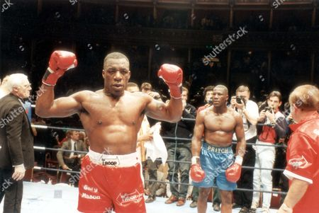 Gary Mason Boxer 1990 Gary Mason And James Pritchard At The Royal Albert Hall. Gary Mason Wants Lennox Lewis's European Heavyweight Title - And Purse Offers For The Fight Have Been Won By National Promotions. ...boxers