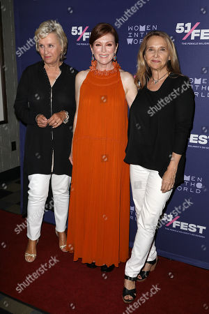 Tina Brown, Julianne Moore and Anne Hubbell (51 Fest)