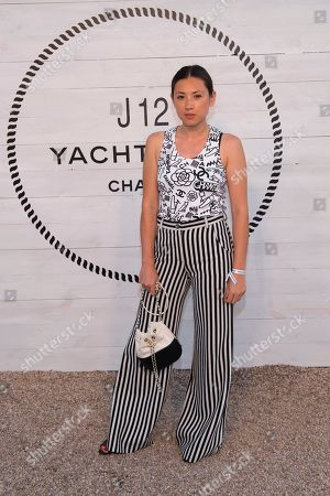 Jen Brill attends Chanel's J12 Yacht Club dinner event at Sunset Beach, in Shelter Island, NY