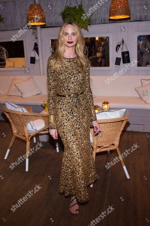 Lauren Santo Domingo attends Chanel's J12 Yacht Club dinner event at Sunset Beach, in Shelter Island, NY