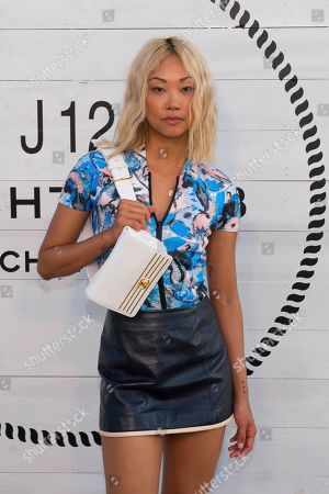 Vanessa Hong attends Chanel's J12 Yacht Club dinner event at Sunset Beach, in Shelter Island, NY