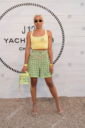 Kitty Cash attends Chanel's J12 Yacht Club dinner event at Sunset Beach, in Shelter Island, NY