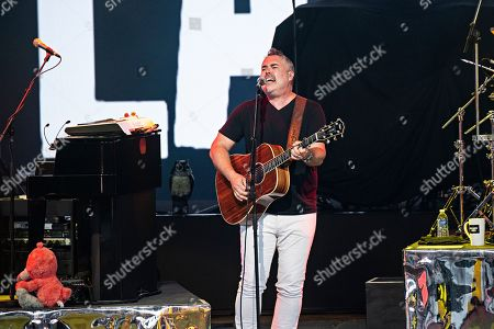 Ed Robertson of Barenaked Ladies performs during the Group Therapy Tour at Riverbend Music Center, in Cincinnati, Ohio