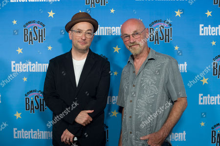 Christopher Markus (left) and Jim Starlin pose for photographs during a red carpet reception at the Entertainment Weekly Comic-Con Bash party in San Diego, California, USA, 20 July 2019 (Issued 22 Juyly 2019).