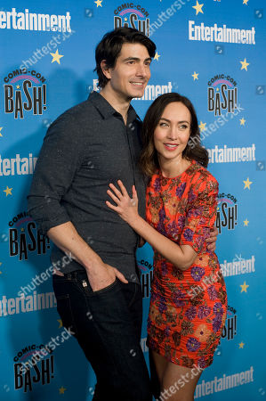 Stock Image of Courtney Ford and Brandon Routh pose for photographs during a red carpet reception at the Entertainment Weekly Comic-Con Bash party in San Diego, California, USA, 20 July 2019 (Issued 22 Juyly 2019).