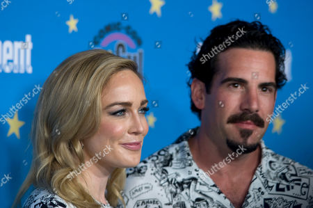 Stock Image of Caity Lotz and Dylan Luis pose for photographs during a red carpet reception at the Entertainment Weekly Comic-Con Bash party in San Diego, California, USA, 20 July 2019 (Issued 22 Juyly 2019).