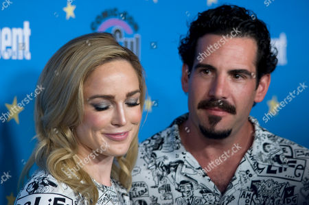 Caity Lotz and Dylan Luis pose for photographs during a red carpet reception at the Entertainment Weekly Comic-Con Bash party in San Diego, California, USA, 20 July 2019 (Issued 22 Juyly 2019).