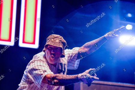Fred Durst of the US rap metal band Limp Bizkit performs during their concert at the Campus Festival in Debrecen, northeastern Hungary, 20 July 2019 (issued 21 July 2019).