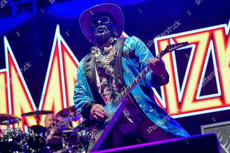Wes Borland of the US rap metal band Limp Bizkit performs during their concert at the Campus Festival in Debrecen, northeastern Hungary, 20 July 2019 (issued 21 July 2019).