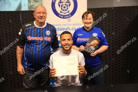 Stock Picture of Joe Thompson Signing with supporters  during the Joe Thompson's Allstars v Joe Thompson's Celebrity 11 in Rochdale at the Crown Oil Arena, Rochdale