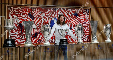 Stock Picture of Brazilian defender Filipe Luis poses for the media during a farewell press conference at Wanda Metropolitano stadium in Madrid, Spain, 21 July 2019. Filipe Luis leaves Atletico de Madrid after playing eight seasons in two different stages and will join with Flamengo from Brazil.