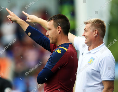 Aston Villa assistant John Terry and manager Dean Smith