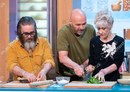Andy Nyman and Anita Dobson with Simon Rimmer