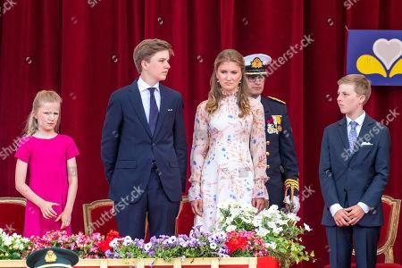 Princess Elisabeth, Prince Gabriel, Prince Emmanuel and Princess Eleonore