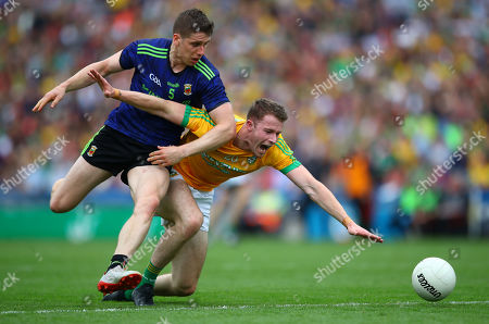 Stock Picture of Mayo vs Meath. Mayo's Lee Keegan and Barry Dardis of Meath