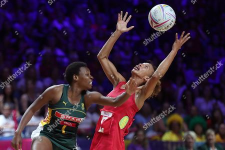 Zanele Vimbele of South Africa and Serena Guthrie of England