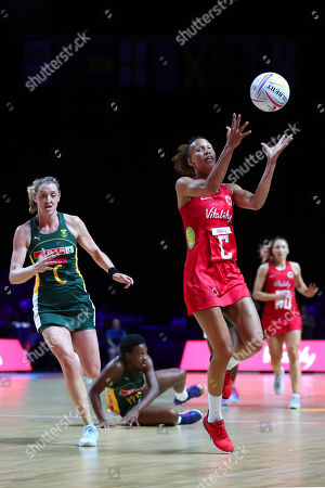 Editorial picture of England v South Africa, Bronze Medal match,2019 Vitality Netball World Cup, Netball, M&S Bank Arena, Liverpool,UK - 21 Jul 2019