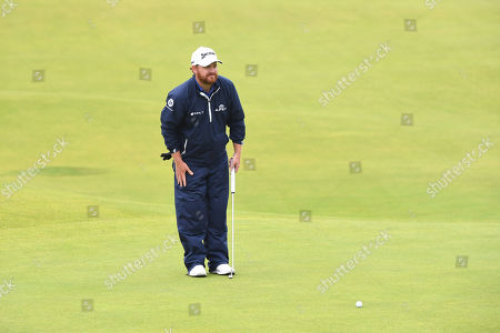 JB Holmes of the US on the green on the final day of the British Open Golf Championship at Royal Portrush, Northern Ireland, 21 July 2019.