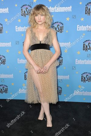 Maddie Hasson attends the Entertainment Weekly party at the Hard Rock Hotel on day three of Comic-Con International, in San Diego