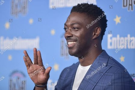 David Ajala attends the Entertainment Weekly party at the Hard Rock Hotel on day three of Comic-Con International, in San Diego