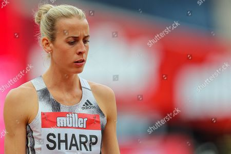 Lynsey SHARP of Great Britain & NI prepares herself before the Women's 800m during the Muller Anniversary Games 2019 at the London Stadium, London