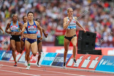 Lynsey SHARP of Great Britain & NI sprints to victory in the Women's 800m during the Muller Anniversary Games 2019 at the London Stadium, London