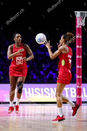 Eboni Usoro-Brown and Serena Guthrie of England.