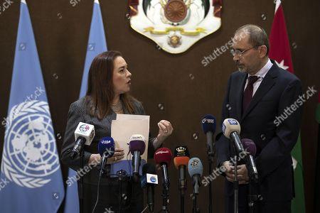 Editorial picture of President of United Nation General Assembly Maria Fernanda Espinosa Garces visits Amman, Jordan - 21 Jul 2019