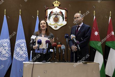 Editorial photo of President of United Nation General Assembly Maria Fernanda Espinosa Garces visits Amman, Jordan - 21 Jul 2019