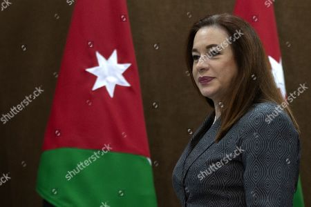 Stock Picture of President of United Nation General Assembly Maria Fernanda Espinosa Garces arrives to deliver a short statement at the Foreign Ministry in Amman, Jordan, 21 July 2019. Espinosa Garces started on 21 July an official four-day visit to Jordan during which she is due to meet with senior officials and visit some of the UN projects in the country.