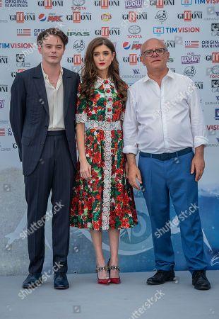 Stock Image of Charlie Heaton, Natalia Dyer, Claudio Gubitosi