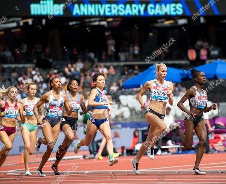 Lynsey Sharp GBR wins the women 800m