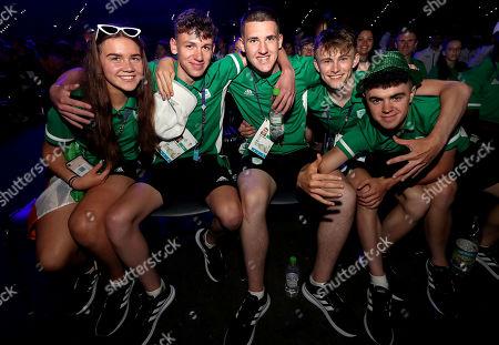 Stock Picture of Team Ireland's Aoife O'Brien, Darren Rafferty, Sean Maher, Adam Gilsenan and Mark McGary