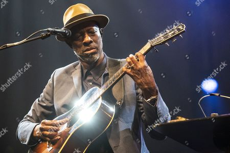 US blues artist Keb'Mo' performs on stage during a concert at the Blue Balls Festival in Lucerne, Switzerland, 21 July 2019. The music event runs from 19 to 27 July.
