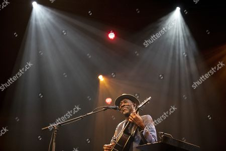Stock Picture of US blues artist Keb'Mo' performs on stage during a concert at the Blue Balls Festival in Lucerne, Switzerland, 21 July 2019. The music event runs from 19 to 27 July.
