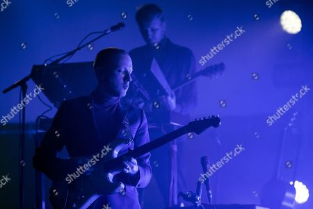 Stock Picture of Alex Trimble, lead singer of Northern Irish band Two Door Cinema Club performs on stage during a concert at the Blue Balls Festival in Lucerne, Switzerland, XX July 2019. The music event runs from 19 to 27 July.