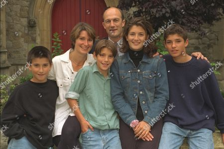 Pic Shows: Nicky & Sila Lee With Their Family Joshua 9 Barny 12 Kirsty 17 And Ben 14. Mr.nicky Lee Is ' Priest -in-charge' At St.pauls Church Onslow Square South Kensington.