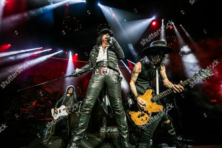 Stock Image of Chuck Garric, Alice Cooper and Tommy Henriksen