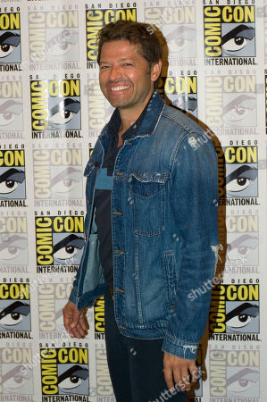 US actor Misha Collins of Supernatural television series, poses for a photograph during a press conference at Comic Con International 2019 in San Diego, California, USA, 21 July 2019.