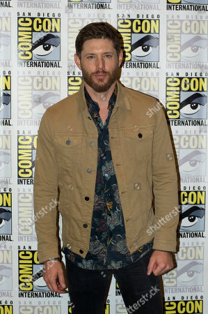 US actor Jensen Ackles of Supernatural television series, poses for a photograph during a press conference at Comic Con International 2019 in San Diego, California, USA, 21 July 2019.