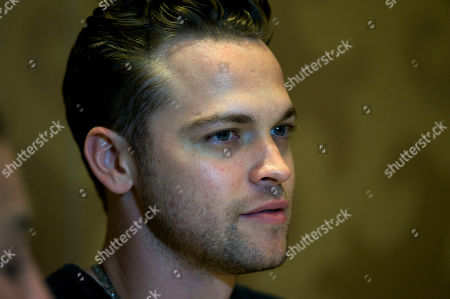 Canadian actor Alexander Calvert of Supernatural television series, speaks during a press conference at Comic Con International 2019 in San Diego, California, USA, 21 July 2019.
