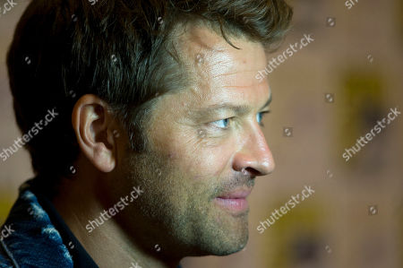 US actor Misha Collins of Supernatural television series, speaks during a press conference at Comic Con International 2019 in San Diego, California, USA, 21 July 2019.